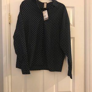 Polka dot button down dress shirt